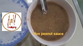 Hue peanut dipping sauce
