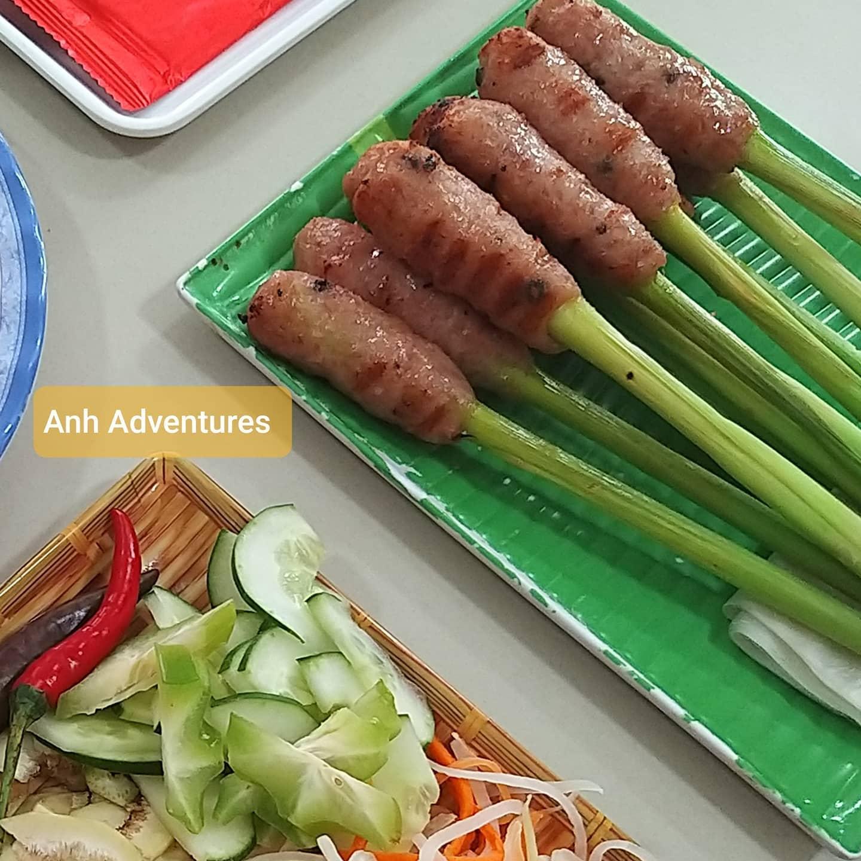 Nem lui Hue skewers pork-Hue street food