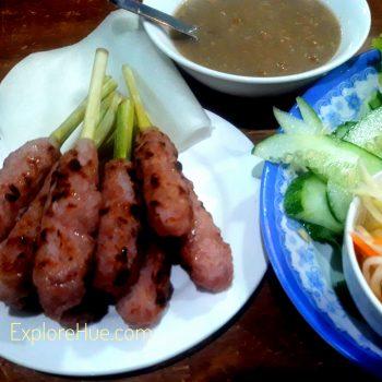 Nem Lui-Hue lemongrass skewers pork