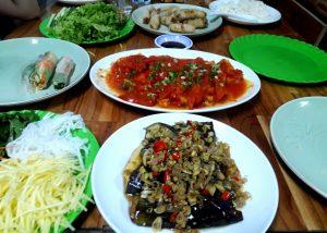 vegetarian cooking class Hue Vietnam